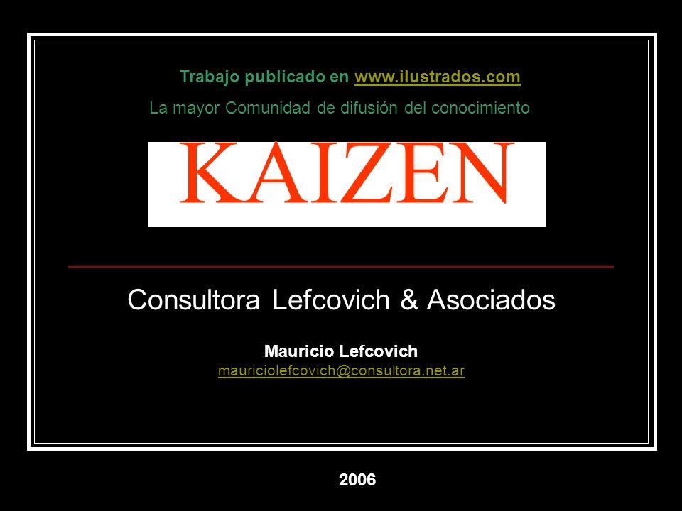 KAIZEN Consultora Lefcovich & Asociados Mauricio Lefcovich mauriciolefcovich@consultora.net.ar mauriciolefcovich@consultora.net.ar 2006 Trabajo public