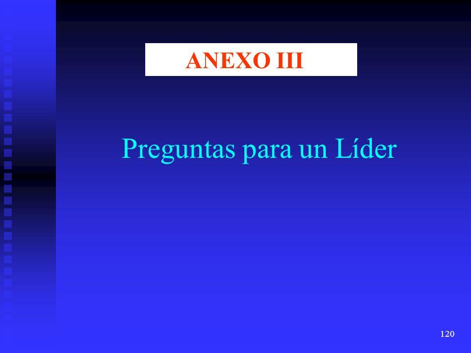 120 Preguntas para un Líder ANEXO III