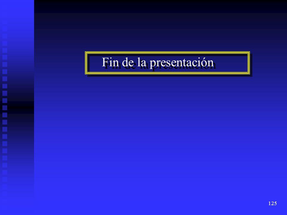 125 Fin de la presentación