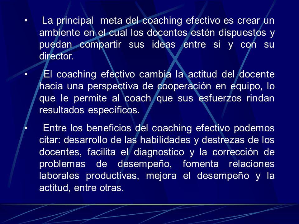 El coaching se aplica cuando existe una retroalimentación pobre o deficiente sobre la mejora de los empleados, causando así un bajo rendimiento labora