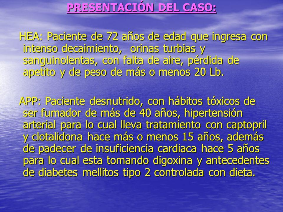 Examen Físico: Mucosas: Húmeda y hipocoloreada Mucosas: Húmeda y hipocoloreada TCS: No infiltrado TCS: No infiltrado A.