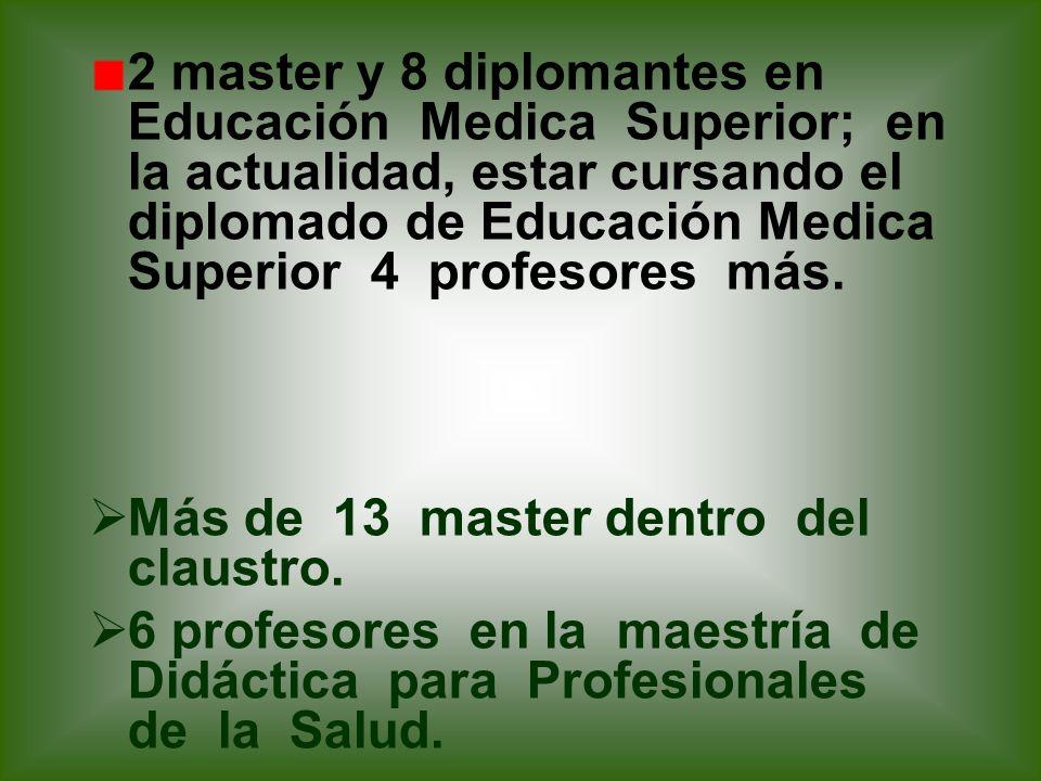 10 policlínicos docentes Nueva categorización para profesores en este curso.