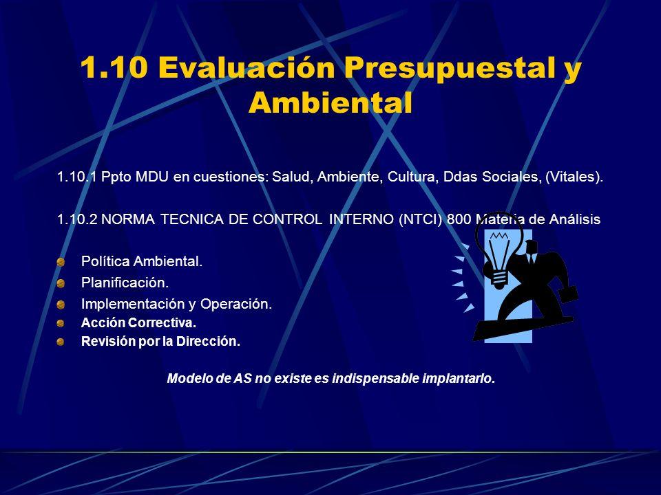 3.8 Evaluación de la RSE en la MDU ORIGEN DEL EXAME NEN LA MDU NO EXISTE UN MODELO DE AS PARA RESOLVER PROBLEMAS DE RSE.