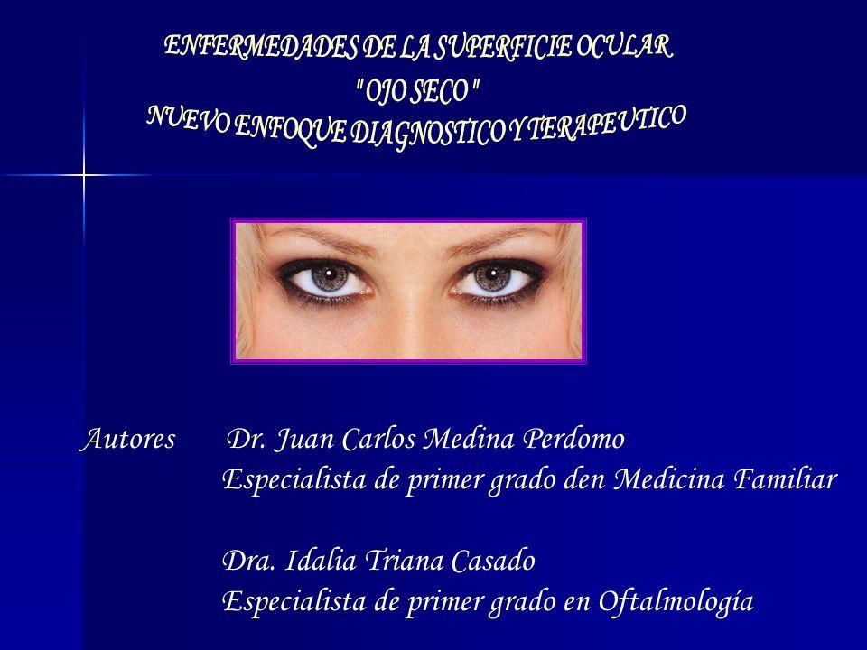 Autores Dr. Juan Carlos Medina Perdomo Especialista de primer grado den Medicina Familiar Dra. Idalia Triana Casado Especialista de primer grado en Of