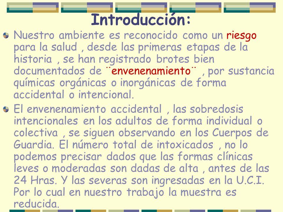 Introducción: Nuestro ambiente es reconocido como un riesgo para la salud, desde las primeras etapas de la historia, se han registrado brotes bien doc
