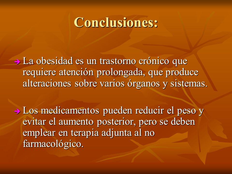 Conclusiones: La obesidad es un trastorno crónico que requiere atención prolongada, que produce alteraciones sobre varios órganos y sistemas. La obesi