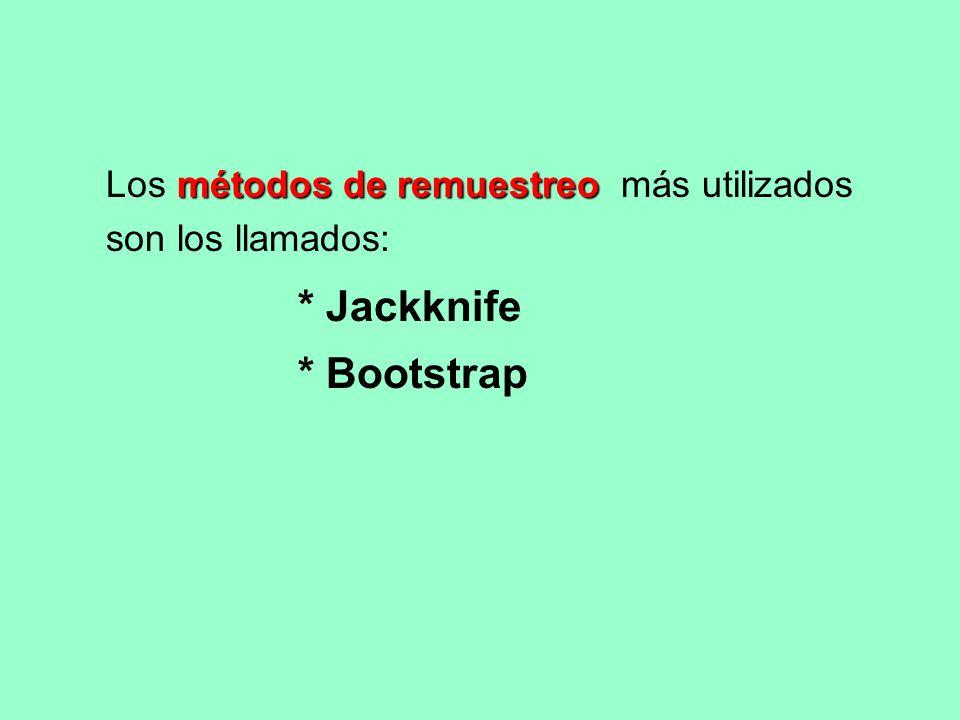 El Jackknife se basa en quitar una UM y calcular la riqueza de especies sin esta UM...