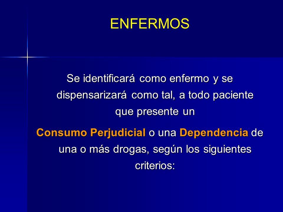 Criterios para la identificación y dispensarización.