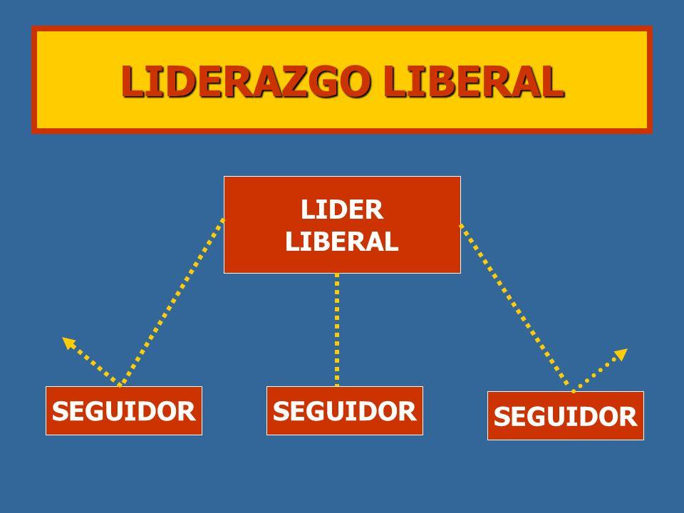LIDER LIBERAL SEGUIDOR LIDERAZGO LIBERAL