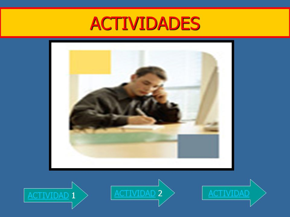 ACTIVIDADES ACTIVIDADACTIVIDAD 1 ACTIVIDADACTIVIDAD 2ACTIVIDAD