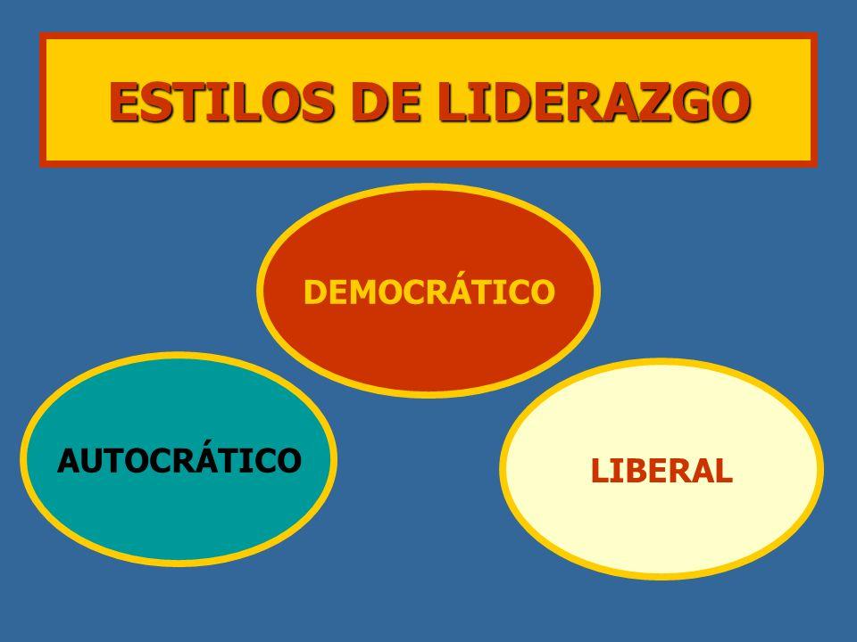 ESTILOS DE LIDERAZGO AUTOCRÁTICO DEMOCRÁTICO LIBERAL