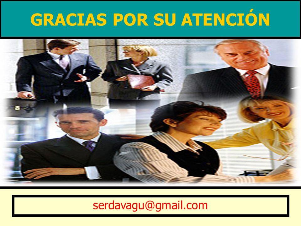 GRACIAS POR SU ATENCIÓN serdavagu@gmail.com