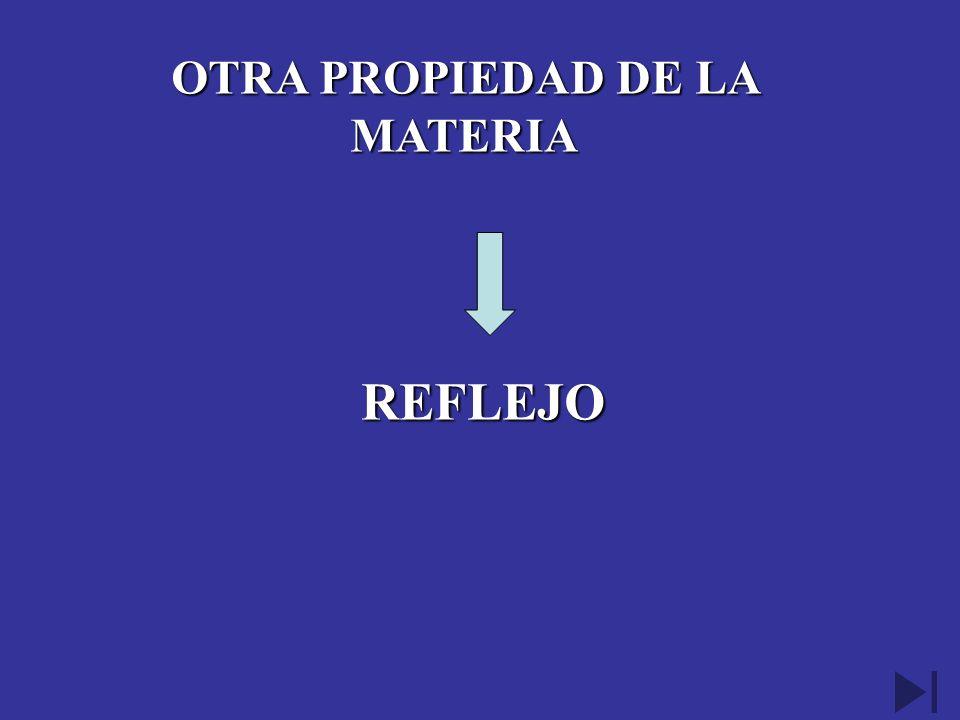 OTRA PROPIEDAD DE LA MATERIA REFLEJO REFLEJO