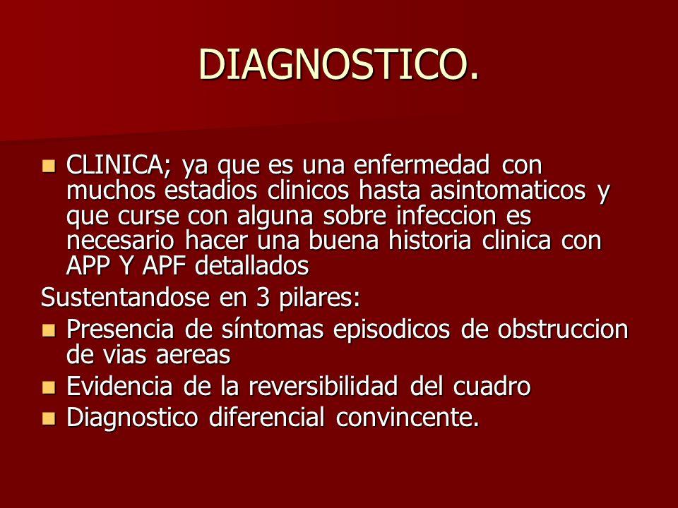 DIAGNOSTICO. CLINICA; ya que es una enfermedad con muchos estadios clinicos hasta asintomaticos y que curse con alguna sobre infeccion es necesario ha