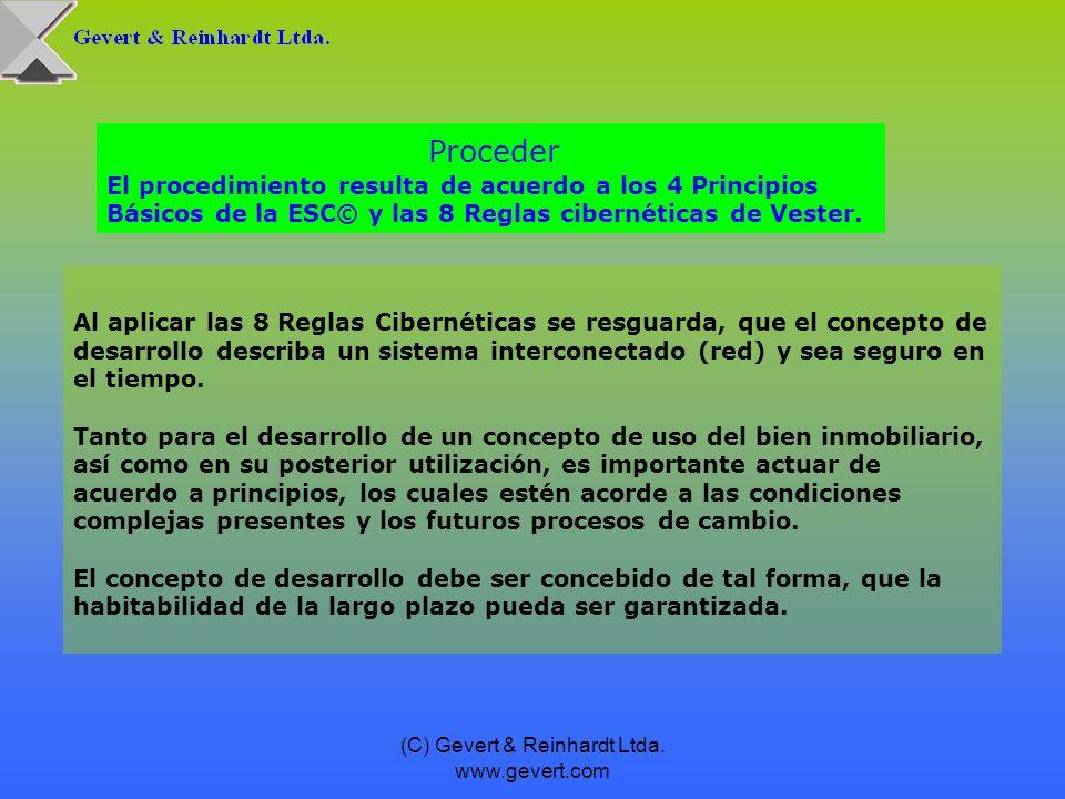 (C) Gevert & Reinhardt Ltda. www.gevert.com Al aplicar las 8 Reglas Cibernéticas se resguarda, que el concepto de desarrollo describa un sistema inter