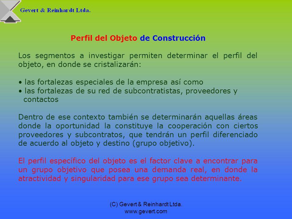(C) Gevert & Reinhardt Ltda. www.gevert.com Perfil del Objeto de Construcción Los segmentos a investigar permiten determinar el perfil del objeto, en
