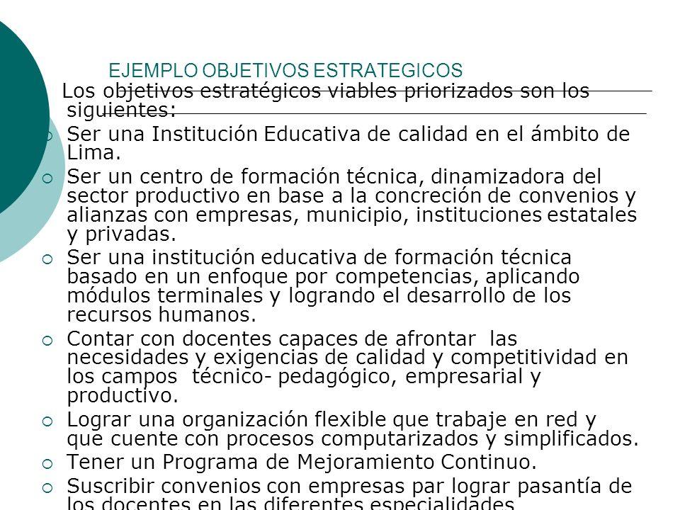 Ejemplo de Misión La Institución Educativa República de Chile es una organización de gestión estatal dedicada a la formación de técnicos competitivos