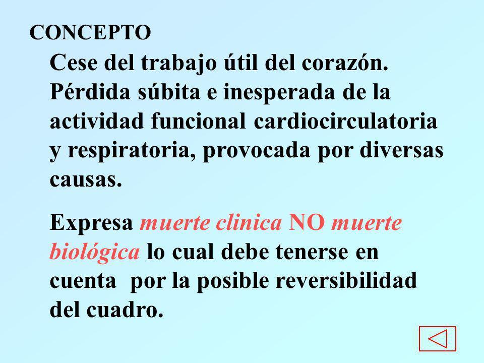 Consecuencias sobre el Sistema Nervioso Central (S.N.C.) El cerebro es el más sensible a la anoxia y los daños ocasionados por ésta pueden determinar el pronóstico.