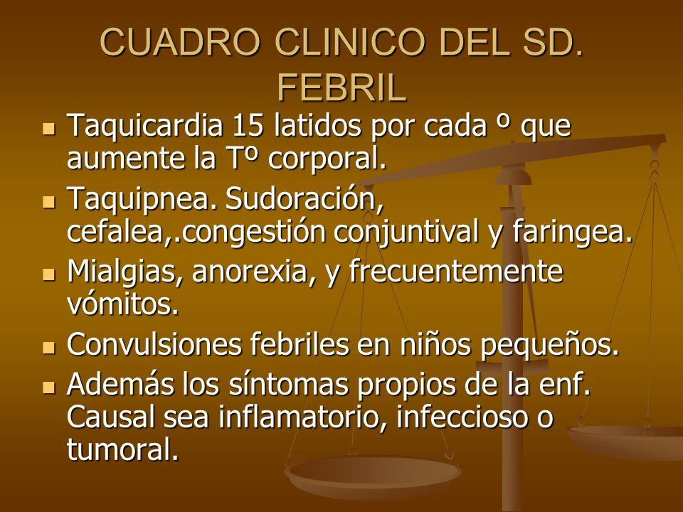 CLASIFICACIÒN SD.Febril de corta duraciòn máximo de 5 días de evoluciòn SD.