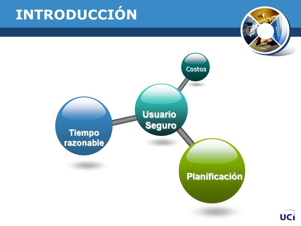 INTRODUCCIÓN UsuarioSeguro Costos Tiemporazonable Planificación