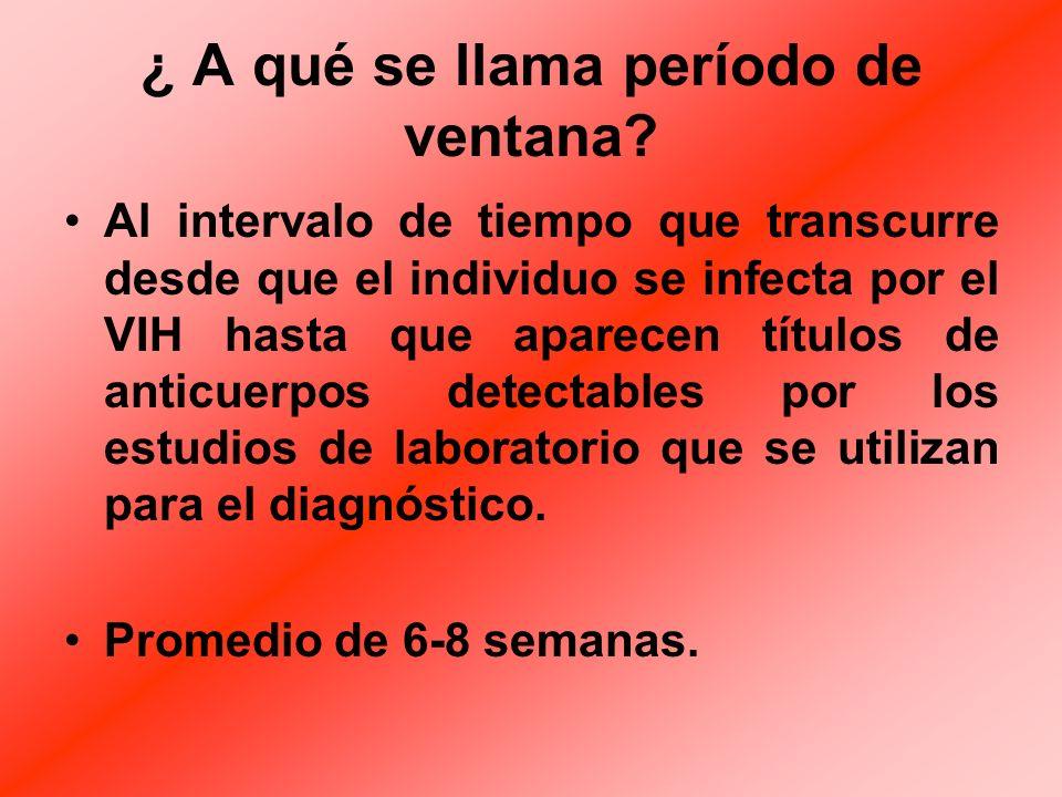 PERIODO DE INCUBACION Es muy largo, comienza desde que el individuo se infecta hasta que aparecen los primeros síntomas de inmunodeficiencia. El prome
