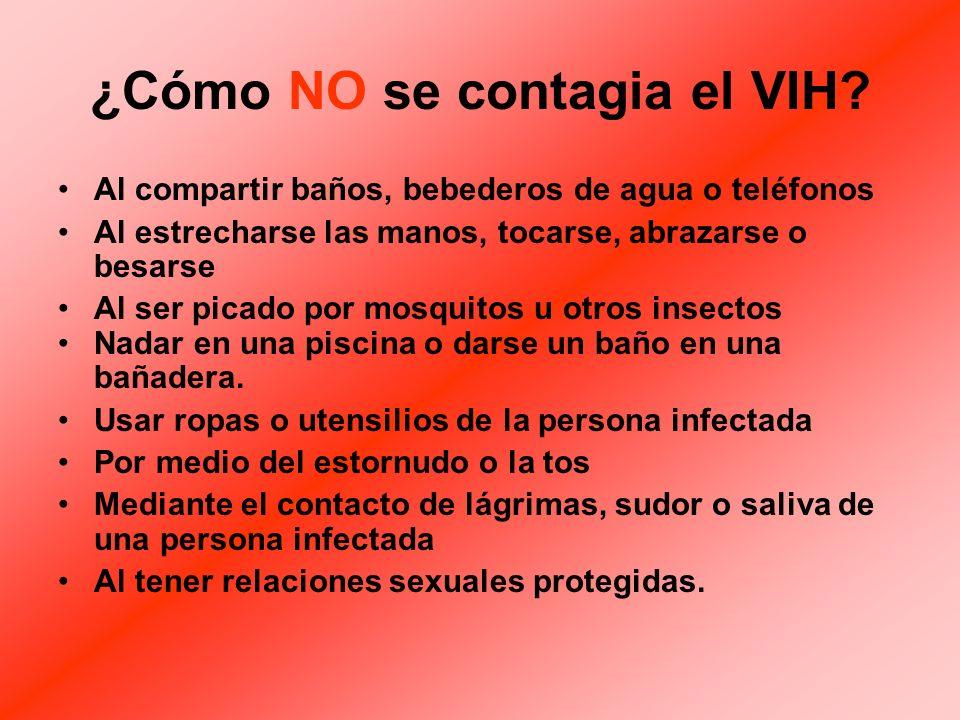 ¿Cómo NO se contagia el VIH.