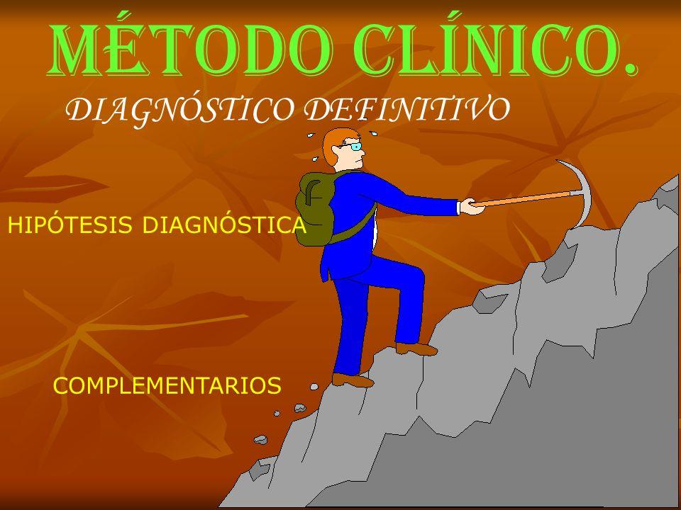 MÉTODO CLÍNICO. DIAGNÓSTICO DEFINITIVO HIPÓTESIS DIAGNÓSTICA COMPLEMENTARIOS