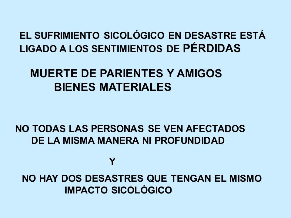 3.- GRUPOS SOCIALES MÁS VULNERABLES MUJERES Y NIÑOS ATENCIÓN DIFERENCIADA 4.- REDES DE APOYO FORMALES E INFORMALES VÍCTIMAS PARTICIPAN DESPUÉS DEL DESASTRE AUMENTA AYUDA INFORMAL Y VOLUNTARIA ELEVA MORAL COMUNITARIA Y ALTRUISMO FOMENTAR COMUNIDAD TERAPÉUTICA