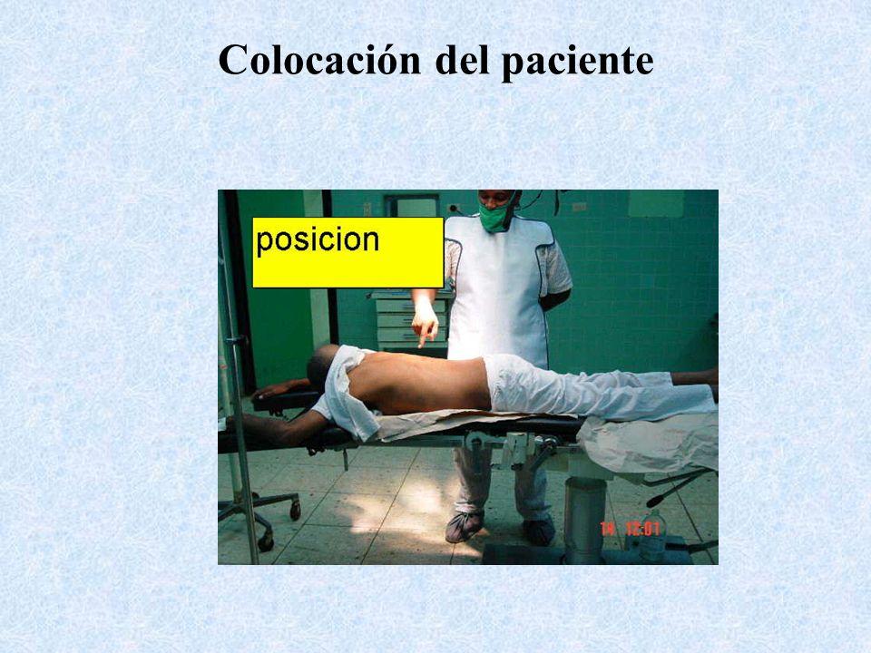 Colocación del paciente