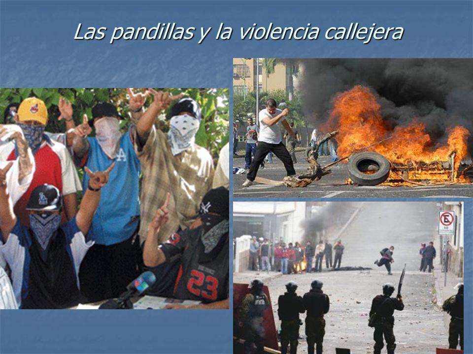 Las pandillas y la violencia callejera