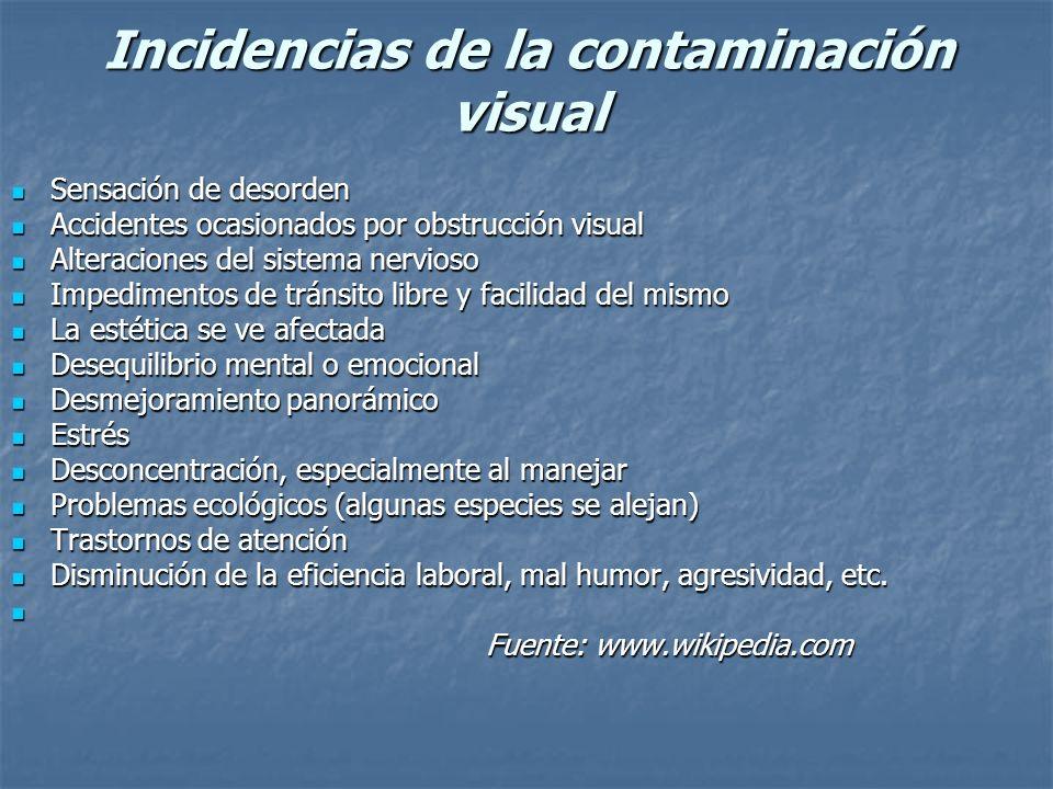 Contaminación visual del medio natural