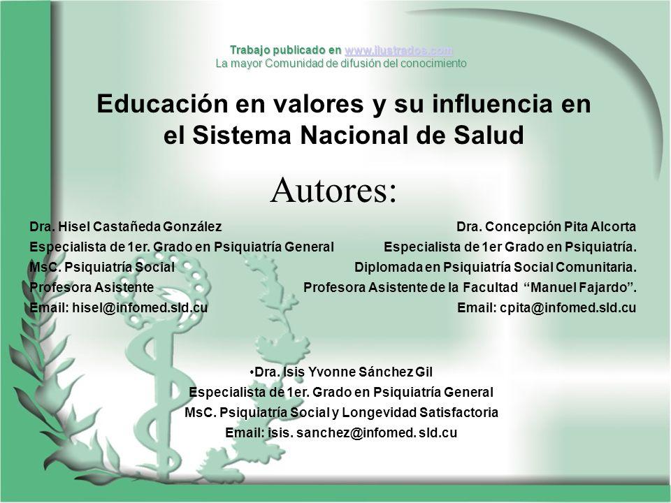 Dra. Hisel Castañeda González Especialista de 1er. Grado en Psiquiatría General MsC. Psiquiatría Social Profesora Asistente Email: hisel@infomed.sld.c