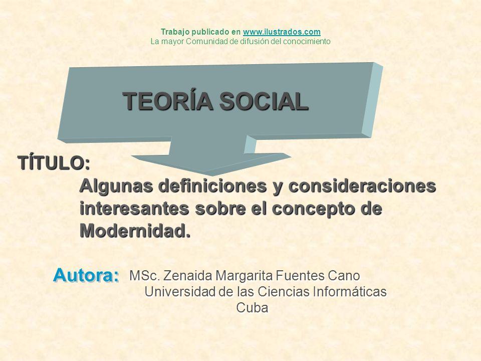 SUMARIO.El surgimiento de la modernidad y el origen de la sociología.