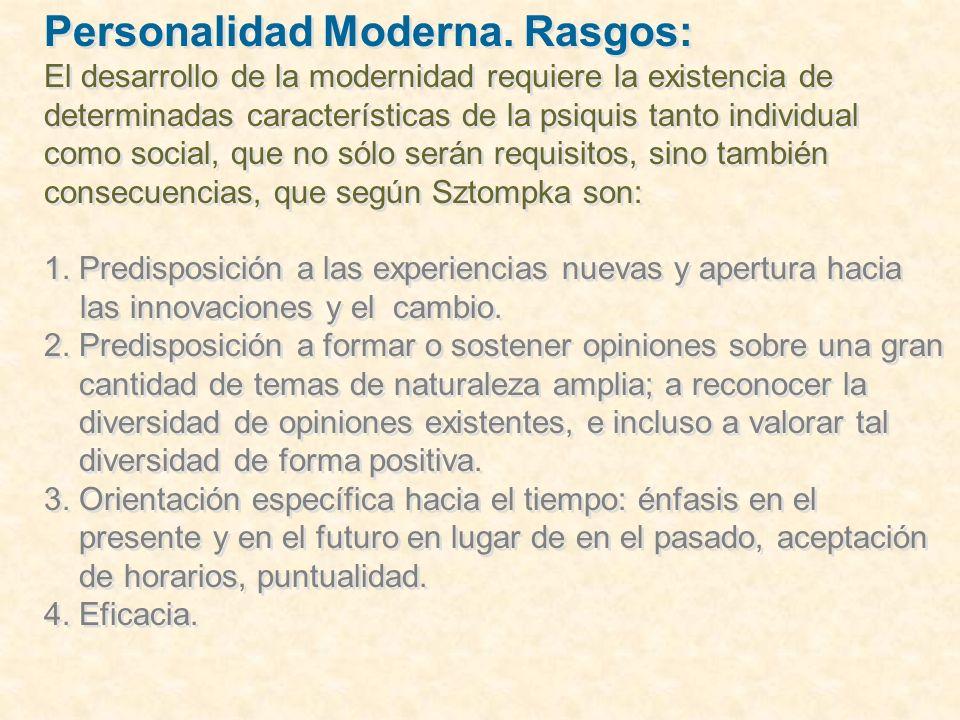 Personalidad Moderna … 5.Planificación.6.