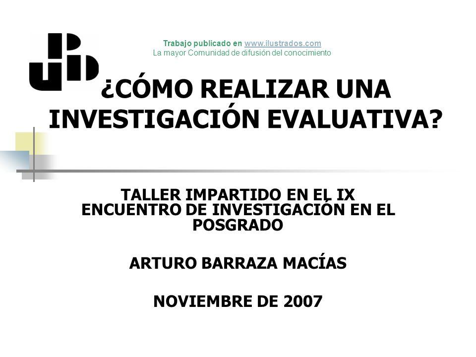 6.1.- Weiss (1997) DISEÑO EXPERIMENTAL DE LA EVALUACIÓN Buscar las metas del Programa.