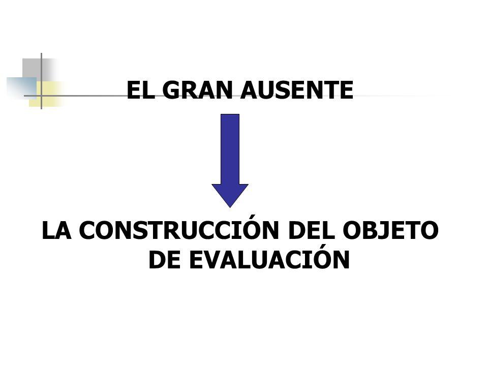 EL GRAN AUSENTE LA CONSTRUCCIÓN DEL OBJETO DE EVALUACIÓN