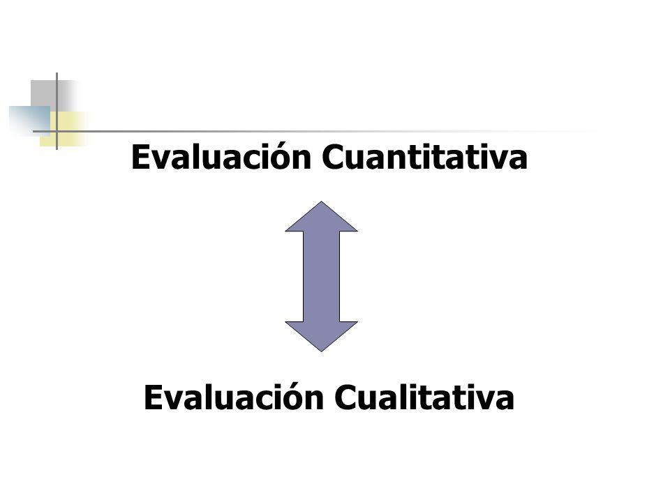 Evaluación Cuantitativa Evaluación Cualitativa