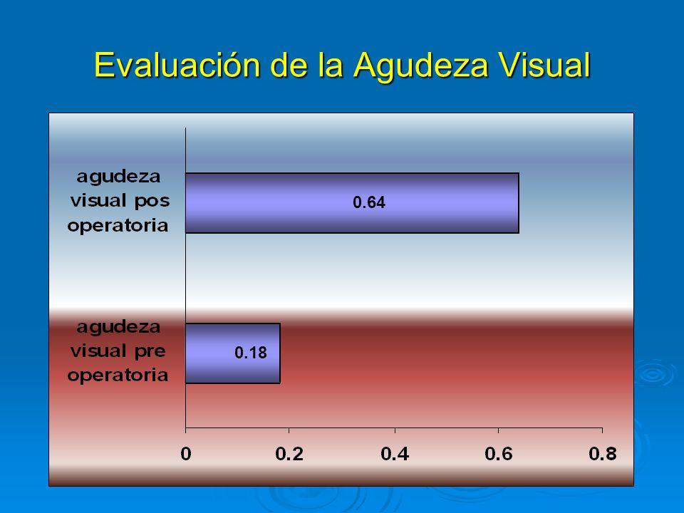 Evaluación de la Agudeza Visual 0.64 0.18