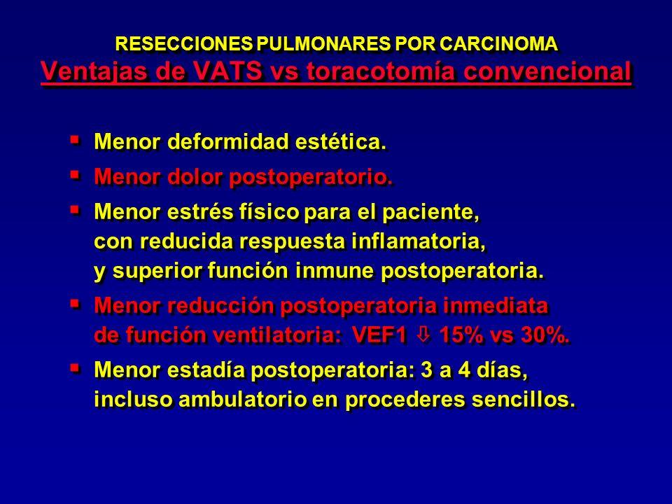 CMA EN CANCER DE PULMON CONTROVERSIAS Estadiamiento: ¿mediastinoscopía o VATS .