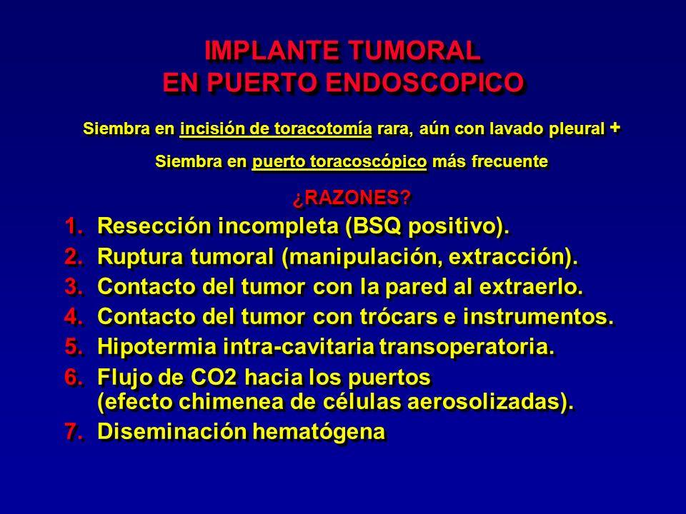 Medidas para evitar implante en puertos endoscópicos 1.
