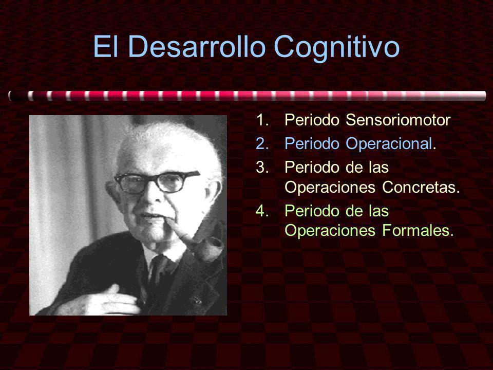 El Desarrollo Cognitivo 1.Periodo Sensoriomotor 2.Periodo Operacional. 3.Periodo de las Operaciones Concretas. 4.Periodo de las Operaciones Formales.
