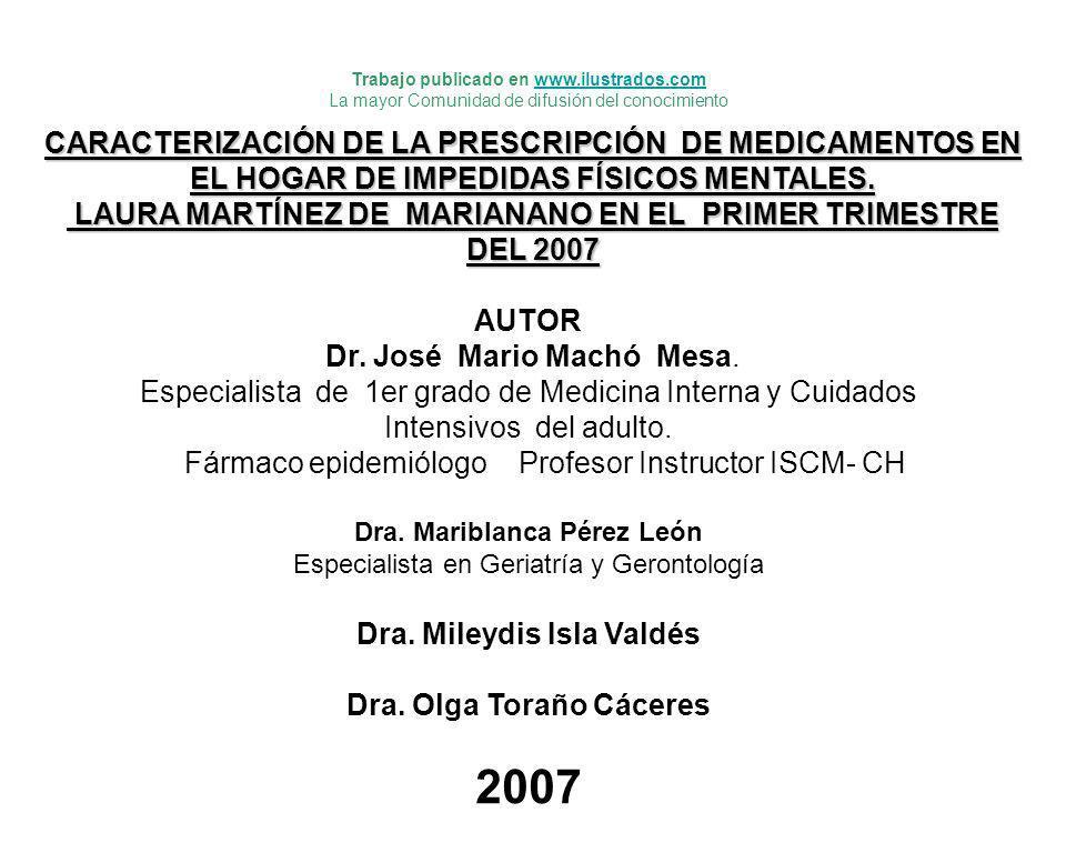 AUTOR Dr. José Mario Machó Mesa. Especialista de 1er grado de Medicina Interna y Cuidados Intensivos del adulto. Fármaco epidemiólogo Profesor Instruc