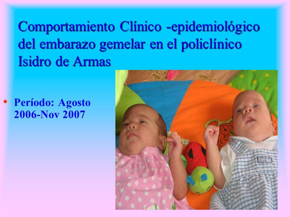 Enfermedades No% Anemia777.7 Sepsis Vaginal666.6 RPM333.3 Preclampsia- eclampsia 222.2 Placenta previa111.1 Oligoamnios111.1 Diabetes Gestacional 111.1 Óbito de gemelos 111.1 Tab.