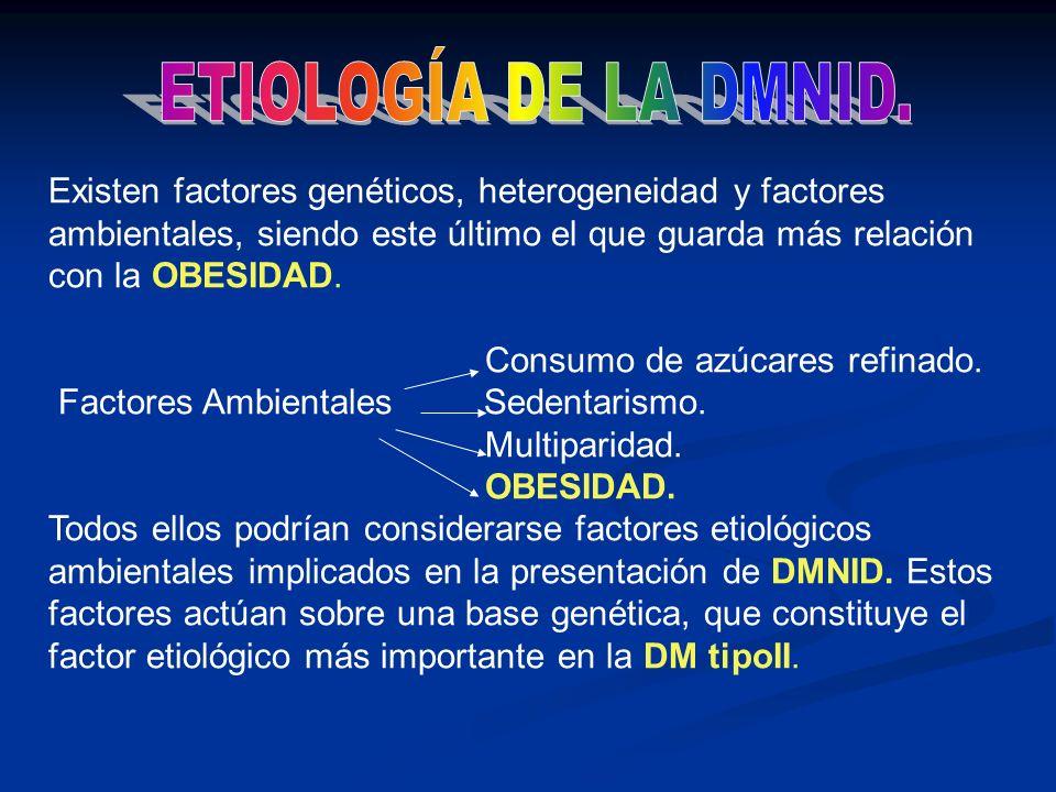 Existen factores genéticos, heterogeneidad y factores ambientales, siendo este último el que guarda más relación con la OBESIDAD. Consumo de azúcares