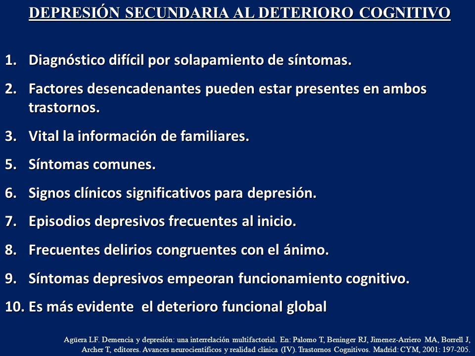 1.Diagnóstico difícil por solapamiento de síntomas. 2.Factores desencadenantes pueden estar presentes en ambos trastornos. 3.Vital la información de f