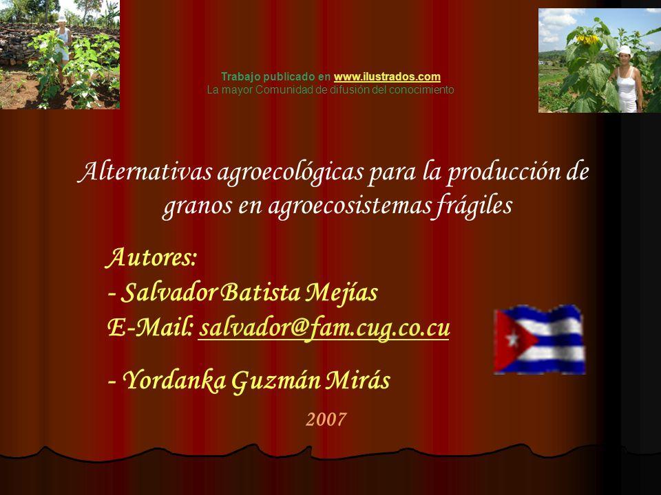 2007 Autores: - Salvador Batista Mejías E-Mail: salvador@fam.cug.co.cusalvador@fam.cug.co.cu - Yordanka Guzmán Mirás Trabajo publicado en www.ilustrad
