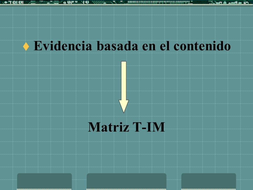 EVIDENCIA BASADA EN LA ESTRUCTURA INTERNA Análisis Factorial Análisis de Consistencia Interna Análisis de Grupos Contrastados