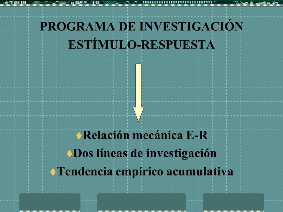 PROGRAMA DE INVESTIGACIÓN PERSONA-ENTORNO Relación dinámica P-E Orientación teorética Construcción de modelos