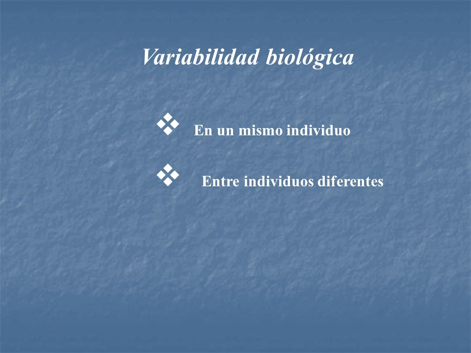 Variabilidad individual 1.