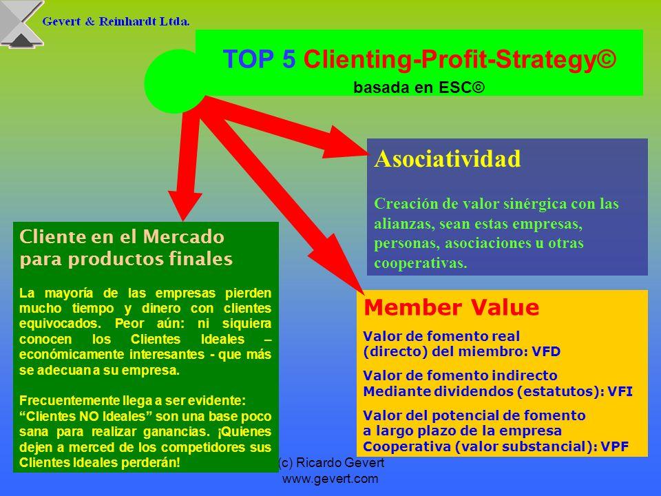 (c) Ricardo Gevert www.gevert.com Member Value Valor de fomento real (directo) del miembro: VFD Valor de fomento indirecto Mediante dividendos (estatu